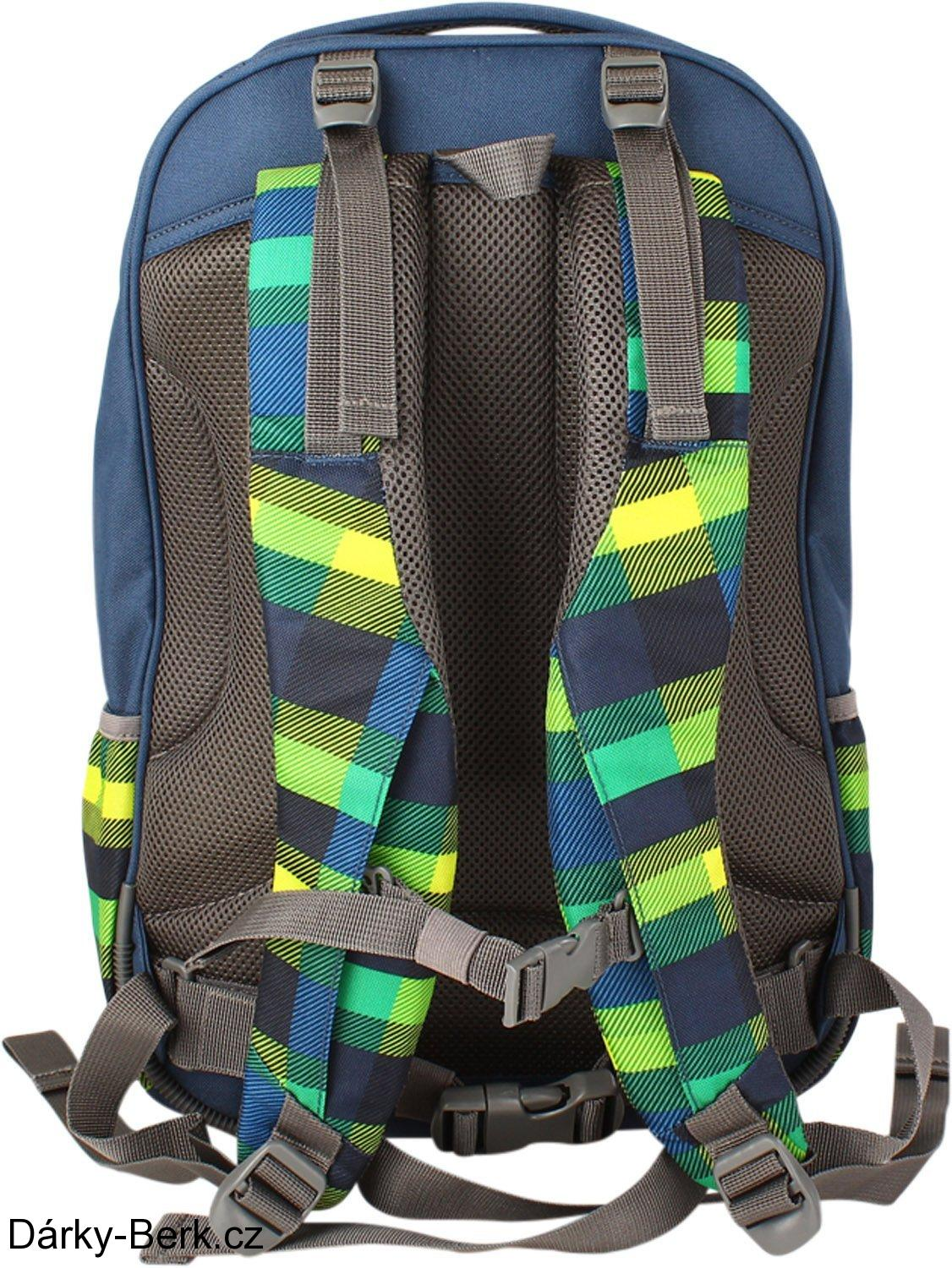 Školní batoh All Out Selby Backpack Summer Check Green
